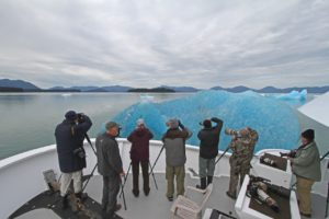 Photographers and ice bergs