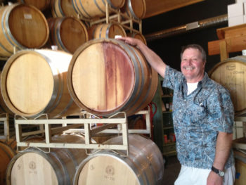 Captain Dennis visiting Paso Robles wineries to personally select wines for your custom charter.