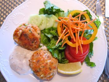 Our signature fish cakes made with a seafood medley. Photo copyright 2012 Adorean Boleancu