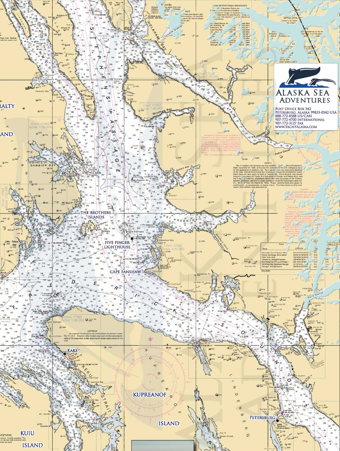 Alaska Sea Adventures SE Alaska Maps - Alaska Sea Adventures