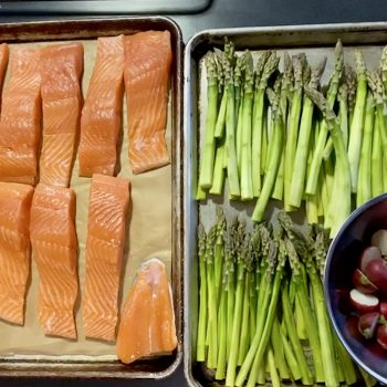 Slow Roasted Winter King Salmon with Pine Nut Gremolata